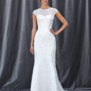 FREYA A fit-n-flare gown with a detachable modest piece that showcases a sweetheart neckline.