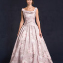 Lis Simon Style: GILMORE (SPECIAL EDITION) Jacquard fabric - pleated bodice with straps, scoop neckline, elongated bodice with full ball gown skirt. Pockets included.