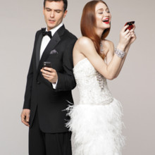 220x220 sq 1375252563773 bride and groom on cell phones