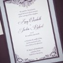 130x130 sq 1354383167460 purpleweddinginvitationwithrhinestones