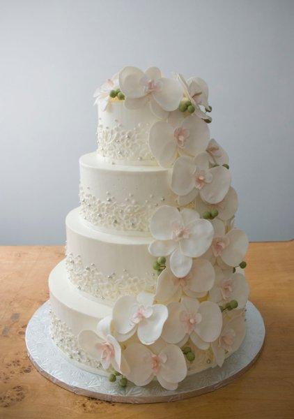 A White Cake by Lauren Bohl White New York NY Wedding Cake