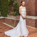 Chelsea Silk duchess satin strapless gown.