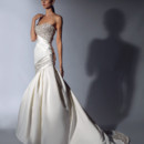 VH125  <br /> Satin strapless ballgown with midriff beaded bodice