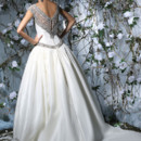 Victor Harper Style VH176  Silk taffeta ballgown with beaded embroidered illusion yoke and back. Beaded hip band.