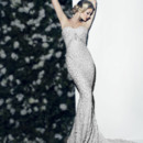 Victor Harper Couture Style VHC295  Strapless column gown. All-over beaded embroidered on tulle.