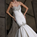 Style VH187  Strapless fit and flare matte satin gown with