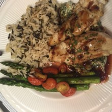220x220 sq 1504216398105 chicken chipotle wild rice asparagus tomatoes