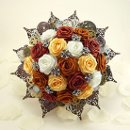 Avant-garde Industrial Steampunk Bouquet For more info and pricing: https://www.etsy.com/listing/119272431/steampunk-noir-origami-wedding-bouquet