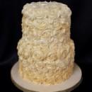 130x130 sq 1415811482165 0rosette ivory cake wedding