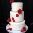 130x130 sq 1415811493494 0sonias wedding cake red roses