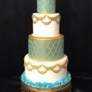 130x130 sq 1426355350613 00moroccoan gold teal cake