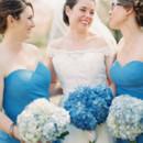 130x130 sq 1401331791374 blue strapless bridesmaid