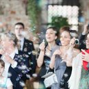 © Photo 2012 by Julian Kanz Photography Location: Corneliano Bertario's Castle Wedding Cake moment with bubbles