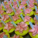 Strawberry Lemonade cupcakes Summer Kick-Off Party 2012