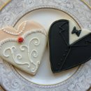 Heart Dress and Tux Cookies