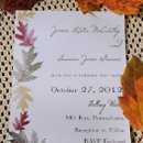 Autumnal Wedding Invitations: http://bespokestationer.com/design/autumnal-invitations 100% pcw recycled invitations with soy inks