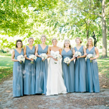 220x220 sq 1471029873121 41 bridesmaids full length gowns grey elegant clas