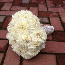220x220 sq 1443475217376 white dahlia crystal bouquet