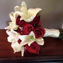 130x130 sq 1428613822593 red and white bridal bouquet