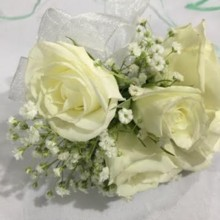 220x220 sq 1483499961128 white rose corsages 3