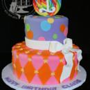 Lollipop-themed 1st birthday party cake