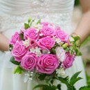 130x130 sq 1370817864385 pink roses bridal bouquet 300