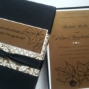 130x130 sq 1393789845475 black linen and bronze fall box invitatio