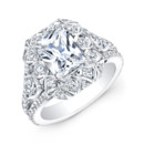 ENG-5505 This vintage-style 18KT white gold engagement ring features 1.82CTS of 76 round diamonds. It may also feature the center stone of your choice! Call 213.626.6012 or chat with us at www.goldempirejewelry.com to get the best deal for this beautiful piece!