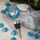 Murano Blue Heart Shaped Bottle Stopper