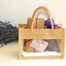 Sweet Wedding Welcome Gifts with handmade chocolate truffles and a fresh lavender sachet.