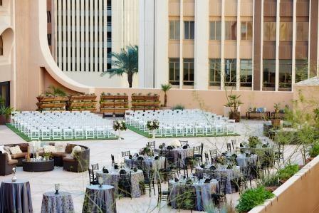 Wedding Reception At Renaissance Hotel Downtown Phoenix