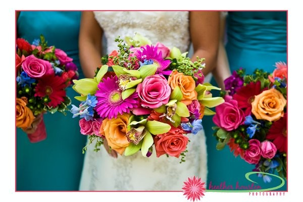 Blue Brown Green Orange Pink Purple Red Silver Yellow Bouquet Wedding ...