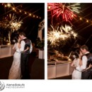 Jennifer & James ended their Destin wedding with a bang aboard the SOLARIS yacht.