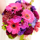 130x130 sq 1366754712841 bright pink and purple bouquet 2