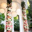 130x130 sq 1415029670415 white pink peach with paper lanterns 2