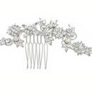 Anne 704  Swarovski Crystal and Pearl Hair Comb - 704