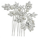 Caroline 707  <br /> Swarovski Crystal and Pearl Hair Comb - 707