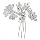 Amelia 708  Swarovski Crystal and Pearl Hair Comb - 708