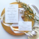 130x130 sq 1477604782942 gold monogram wedding invitation suite