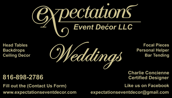 Event decorator business cards top game expectations event decor llc photos ceremony reception for event decorator business cards junglespirit Image collections