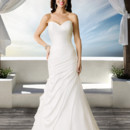 Brand: Diamond Collection Style: Aria Style Code: 5651T Soft slim strapless gown with deep V back neckline.