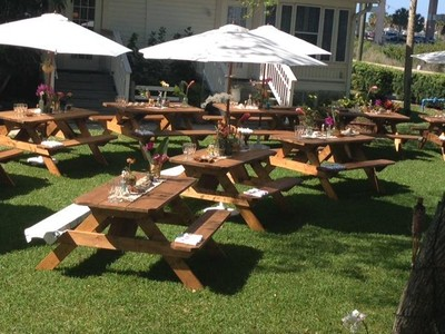 Pro Line Rustic Wood Picnic Tables Rentals Amp More Wedding