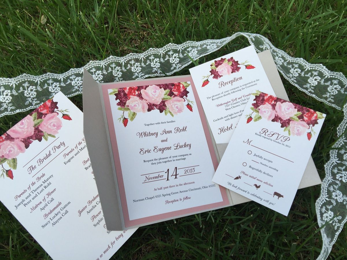 Cincinnati Wedding Invitations - Reviews for 42 Invitations
