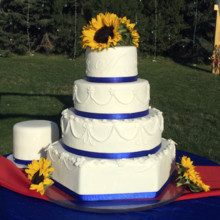 220x220 sq 1421081559001 navy sunflower cake