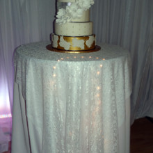 220x220 sq 1422909531467 gold and white cake