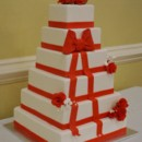 130x130_sq_1409083668364-square-wedding-cake-with-red-ribbo
