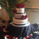 130x130 sq 1414420244187 black  white wedding cake with roses