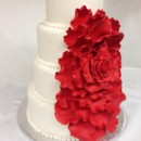 130x130 sq 1414420251060 cascading rose wedding cake