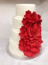 220x220 1414437620647 cascading rose wedding cake