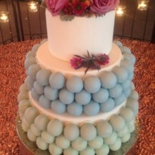 220x220 sq 1445442488110 blue green wedding cake cropped